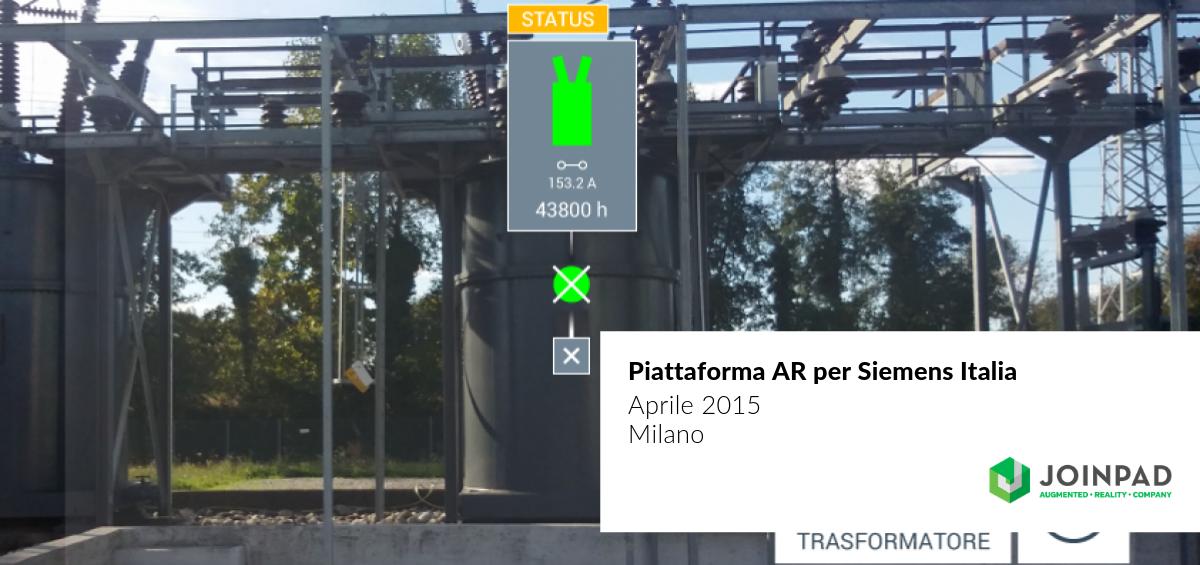 cover use case di JoinPad che ha realizzato una soluzione in realtà aumentata per Siemens Italia