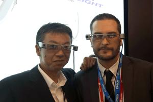 Mauro Rubin presenting the new Epson BT-300 @ MWC2016