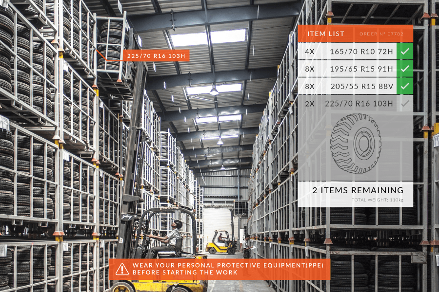Joinpad Augmented Reality applications for smart warehousing