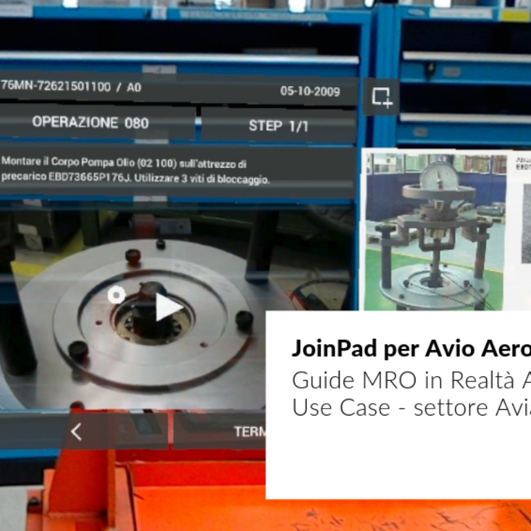 JoinPad per Avio Aero | Guide MRO in Realtà Aumentata