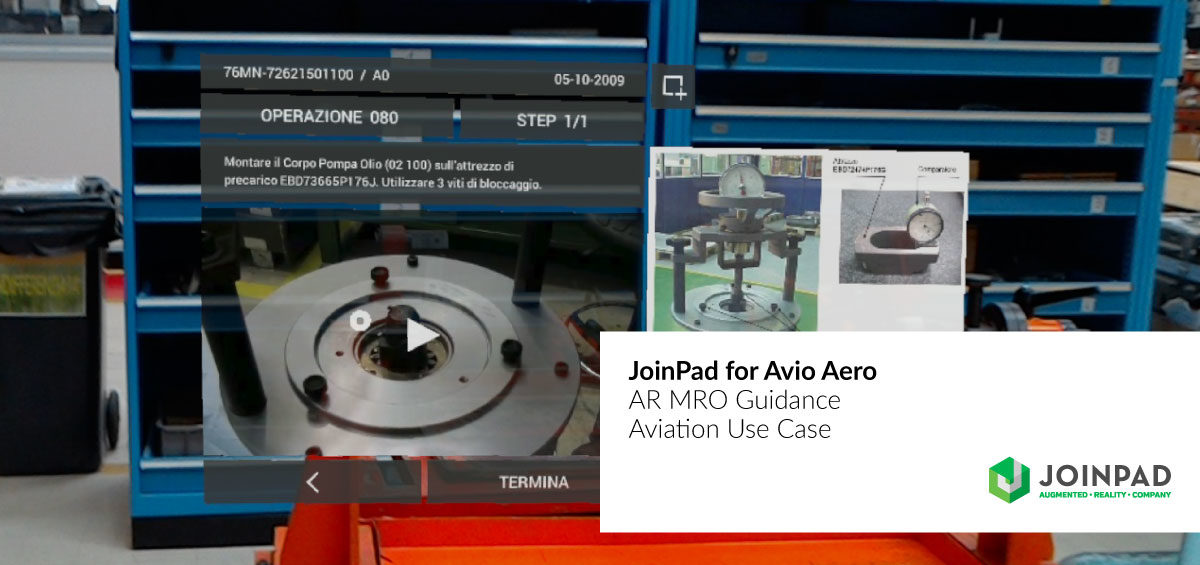 JoinPad for Avio Aero | AR MRO Guidance
