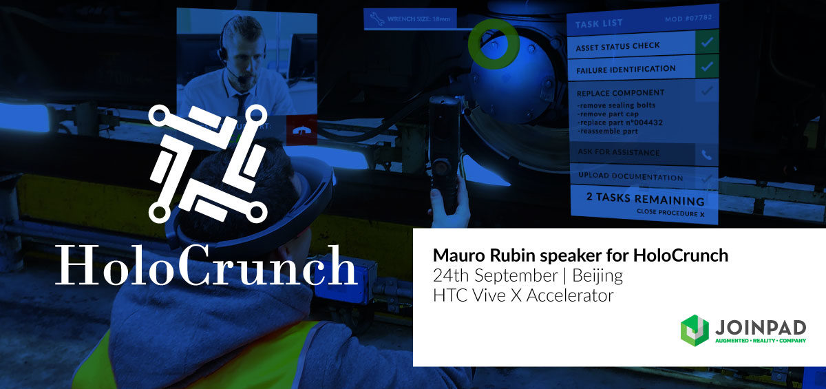 Mauro Rubin speaks at HoloCrunch event in Beijing