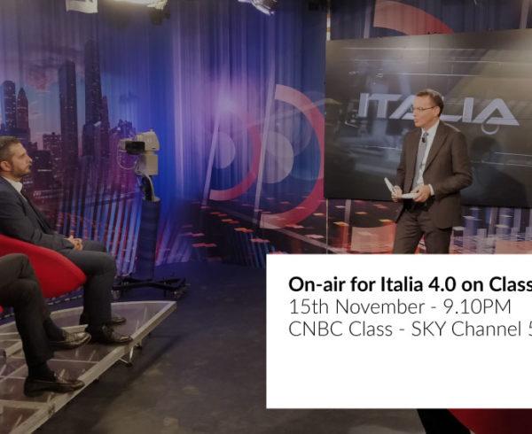 On-air for Italia 4.0 on Class CNBC