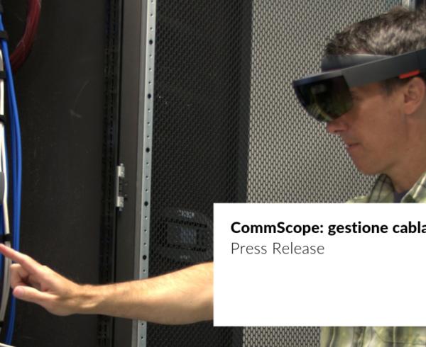 cover press release collaborazione di JoinPad con CommScope per la realizzazione di un sistema in realtà aumentata per visualizzazione dei cavi