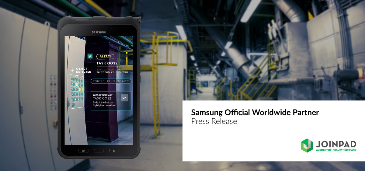 Press release of JoinPad Augmented Reality Company becoming official B2B partner of Samsung