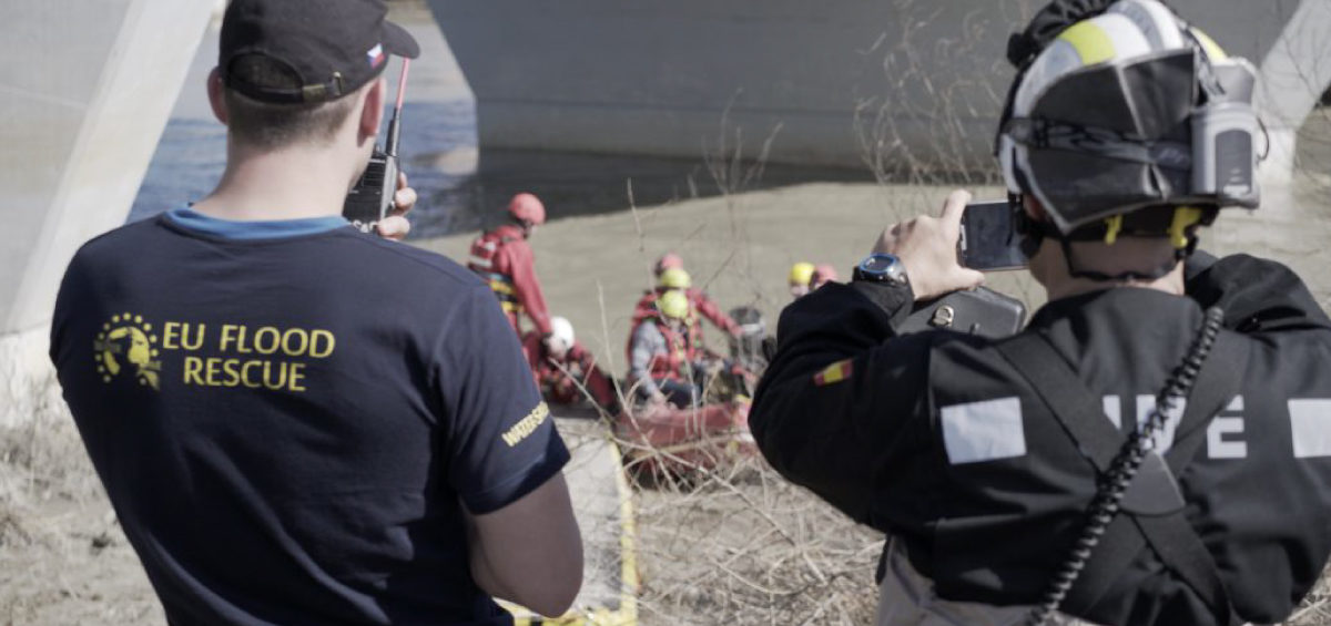 Test application I-React that helps first responders during natural hazards