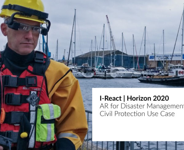 JoinPad has build an application with I-React project that uses Augmented Reality to help first responders in risky situations