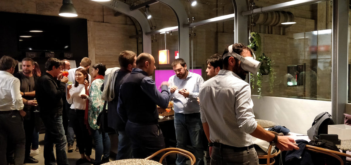 People enjoy themselves at the Vrara Milan Chapter Dinner
