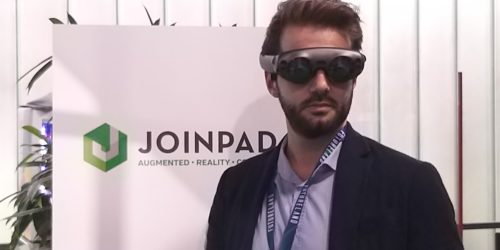 JoinPad at Futureland 2018 with MagicLeap glasses