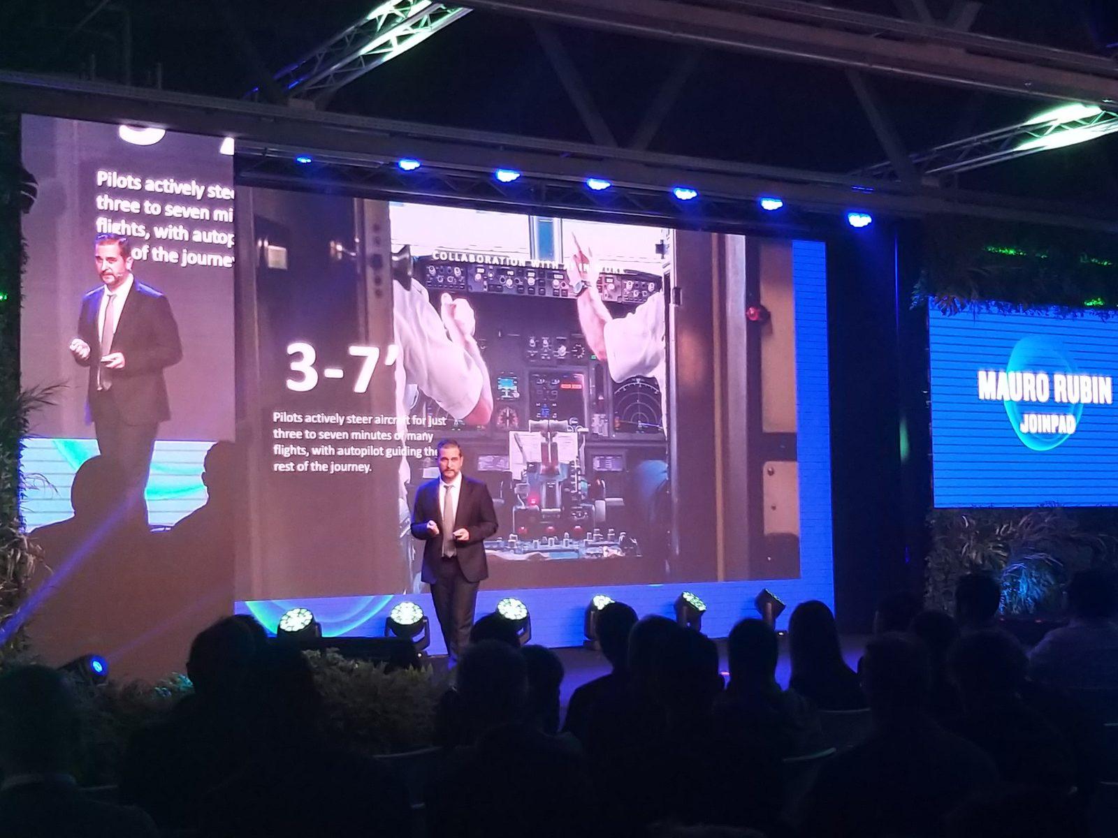 Mauro Rubin CEO of JoinPad at Futureland 2018 on stage