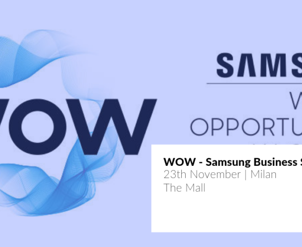 JoinPad at Samsung WOW Business event in Milan