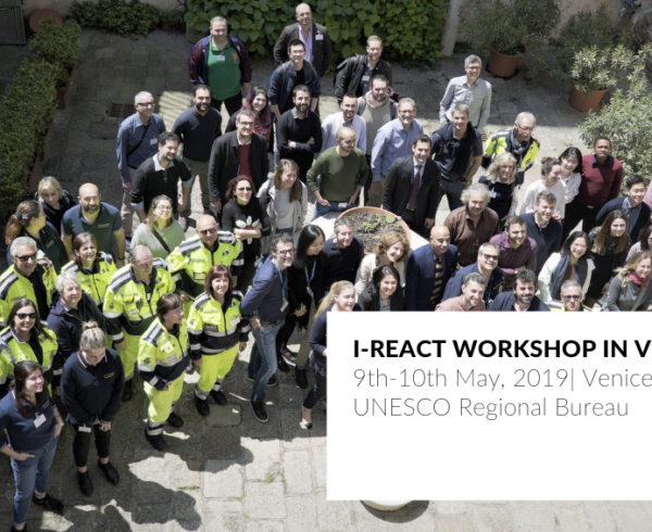 I-REACT PROJECT WORKSHOP IN VENICE 2019