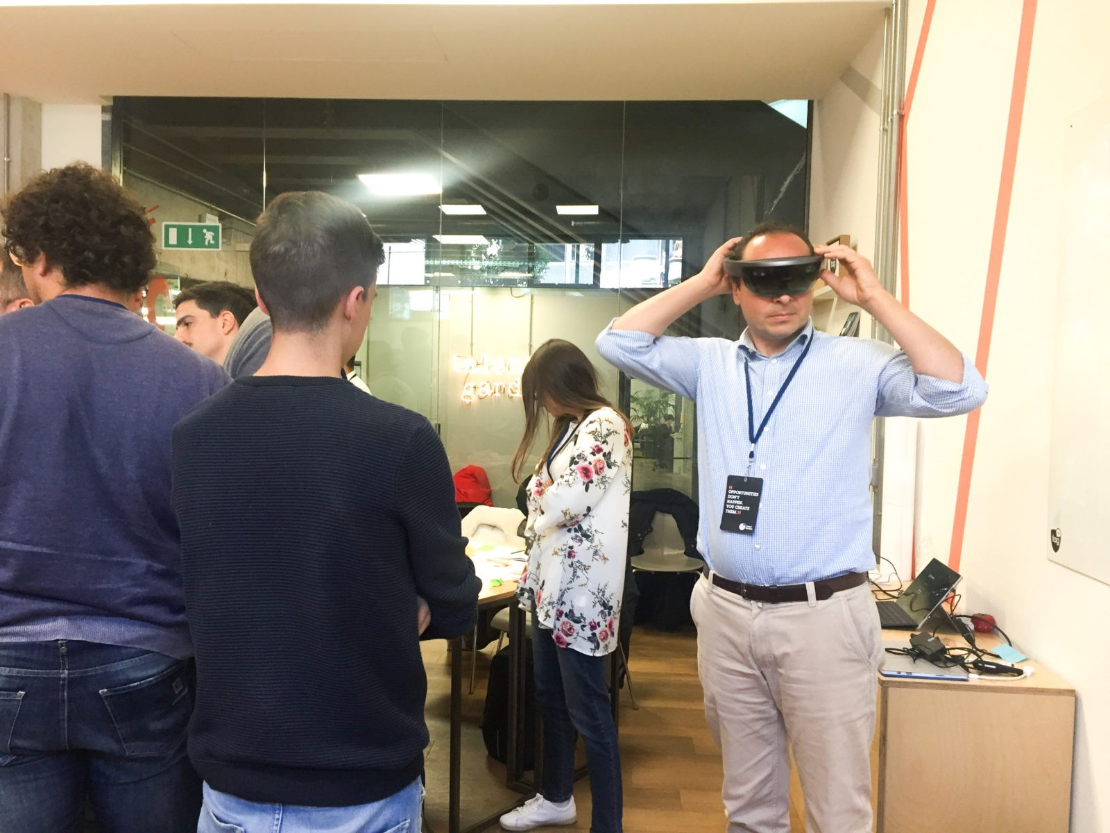 Man tries HoloLens