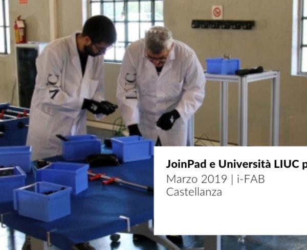 Cover news della partnership tra JoinPad e LIUC Università Cattaneo per portare la Realtà Aumentata nel suo laboratorio i-fab