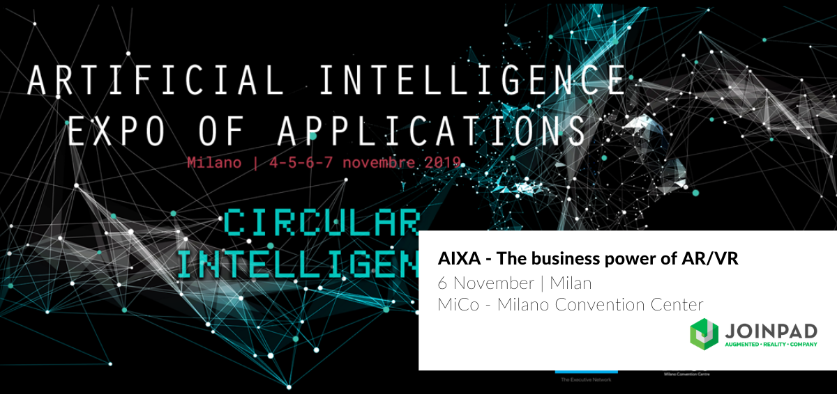 Cover post for AIXA event on the business power of Augmented and Virtual Reality