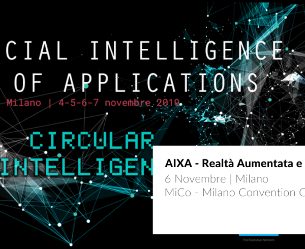 Cover post evento AIXA sulla Realtà Aumentata e Intelligenza Artificiale per le imprese