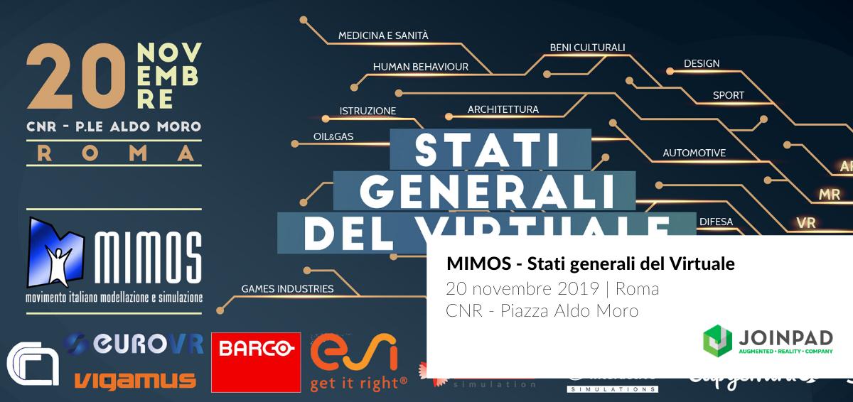 cover evento mimos stati generali del virtuale roma JoinPad Realtà Aumentata