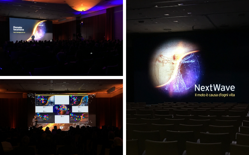 foto collage dell'evento EY 2019 Partners' Meeting JoinPad Augmented Reality