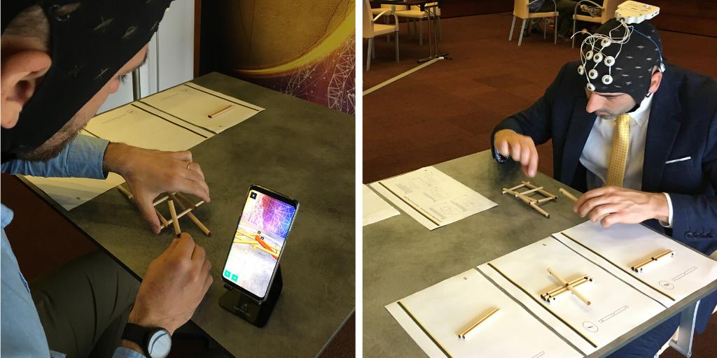 Ponte di Leonardo JoinPad applicazione Realtà Aumentata versus istruzioni su carta