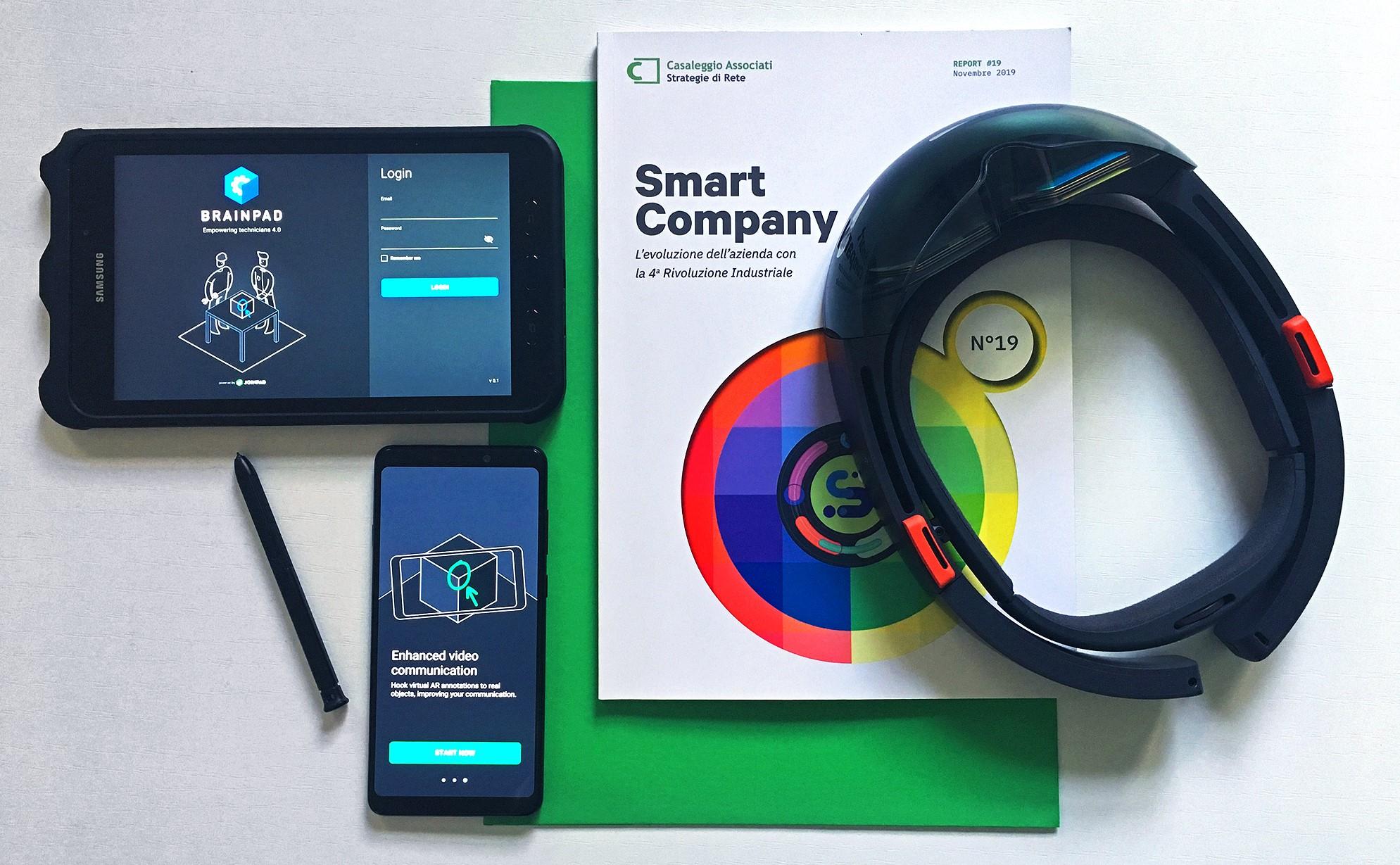 Report Casaleggio Smart Company Microsoft Hololens Tab Active 2 smartphone