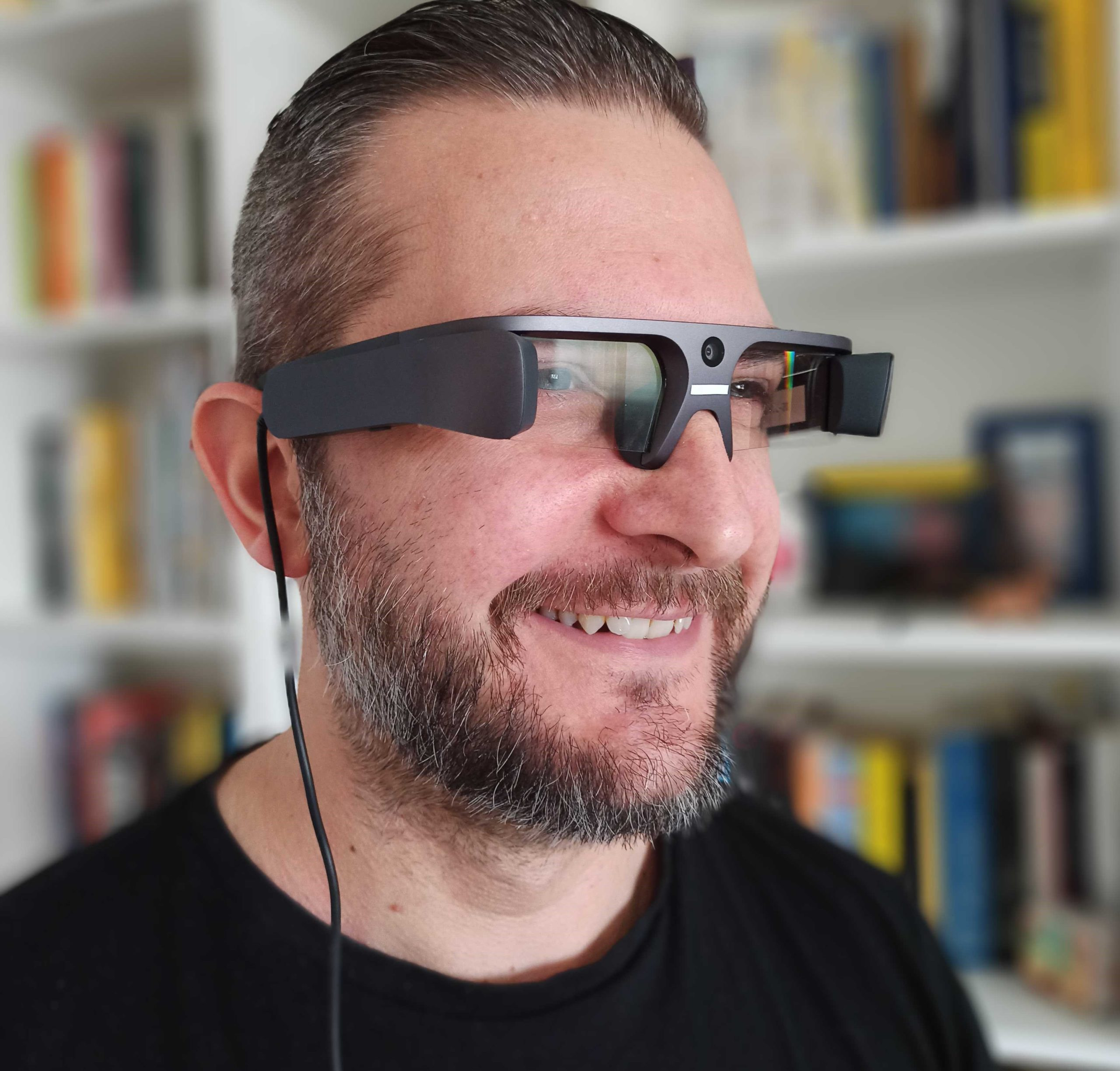 CEO JoinPad with LEION smart glasses by LLVision