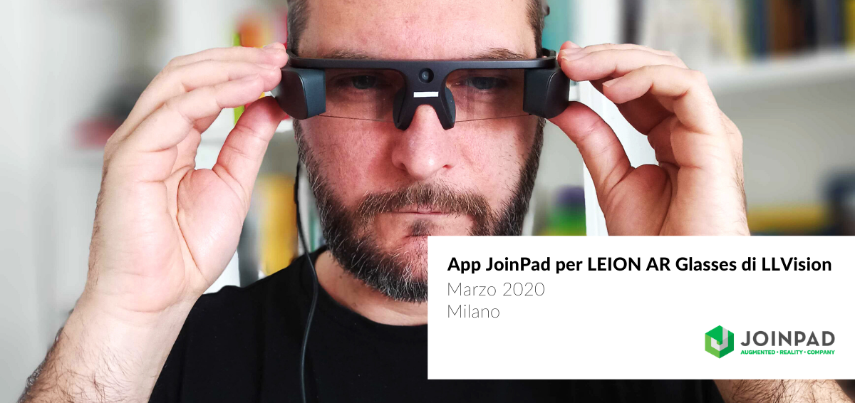 cover news app Realtà Aumentata JoinPad per nuovi Smart Glasses Leion di LLVision