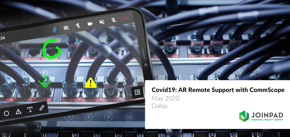 Cover news Covid19 AR Remote Assistance with CommScope