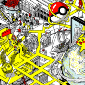 Cover state of the Art news Ninatic 3D map of the world pokémon go