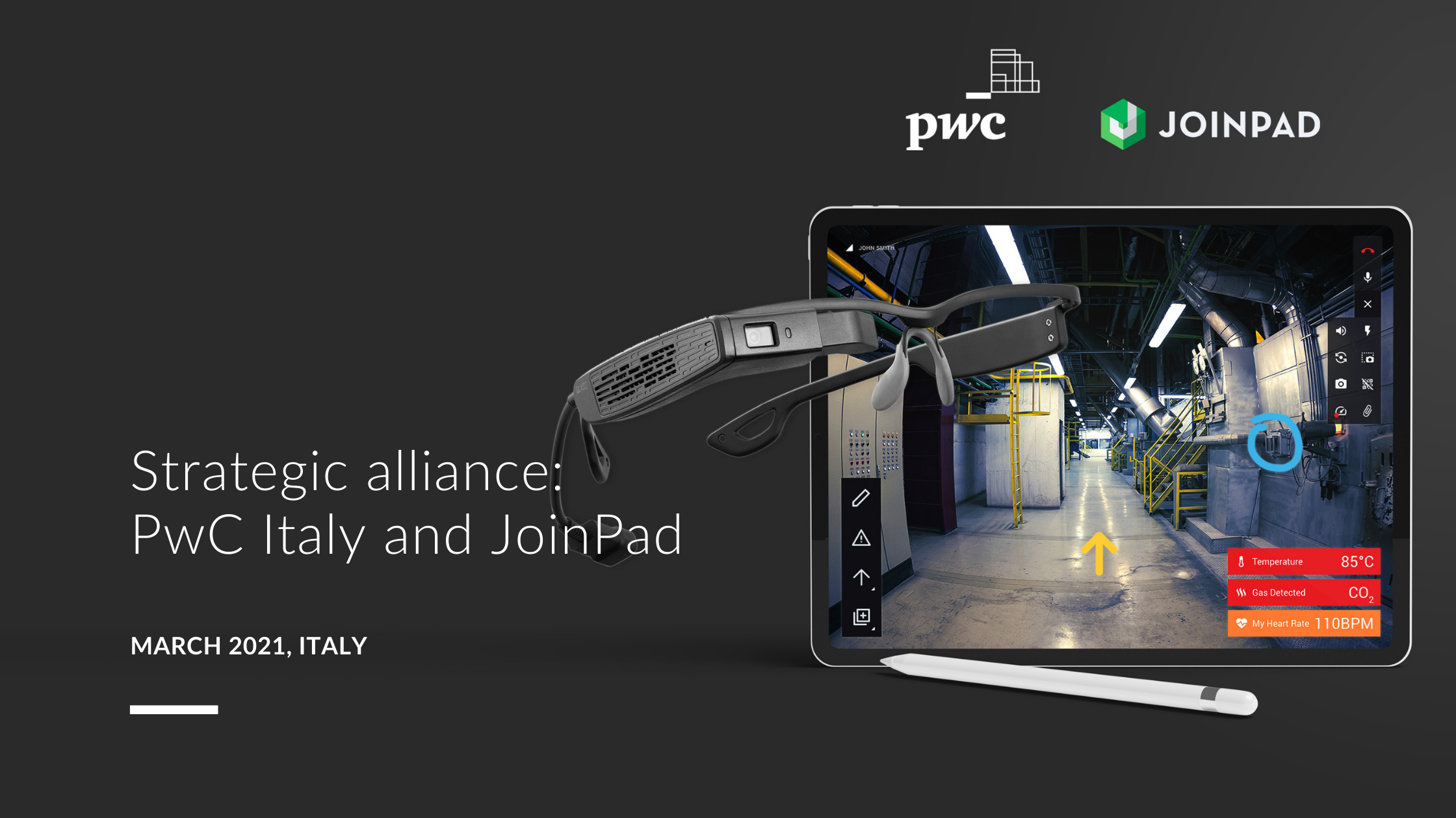 cover press release strategic alliance between PwC Italy and JoinPad